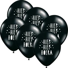 6 ballonen 'Hoera'
