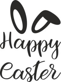 strijkapplicatie  'happy easter' (sierlijk)