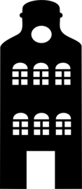herbruikbare raamsticker huisje A