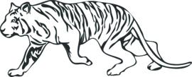 strijkapplicatie tijger lopend