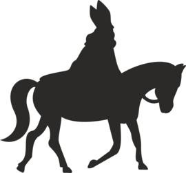 Strijkapplicatie Sint op paard