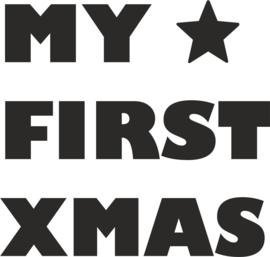 strijkapplicatie my first christmas stoer