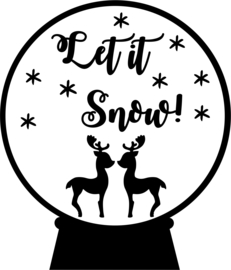 strijkapplicatie kerst schudbol let it snow