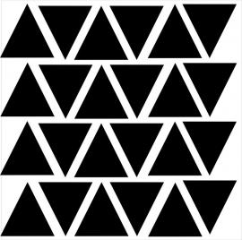 Strijkapplicatie strooi driehoekjes klein