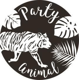 strijkapplicatie Party Animal tijger