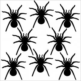 Strijkapplicatie strooi spinnen