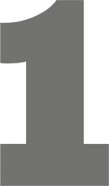 strijkapplicatie cijfer stoer - kies 0 t/m 9