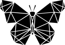 strijkapplicatie geometrisch vlinder vlakken