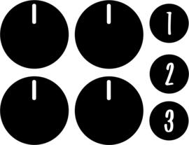 stickers knopjes 2 keukentje