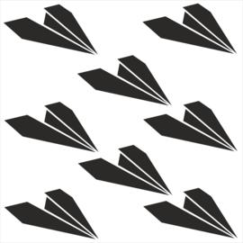 Strijkapplicatie strooi papieren vliegtuigjes