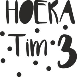 sticker verjaardag Hoera