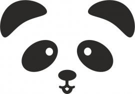 strijkapplicatie Pandabeer Snoetje