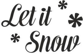 strijkapplicatie 'let it snow'