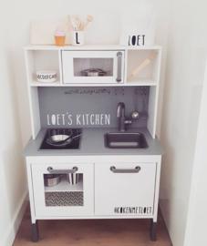 Sticker naam's kitchen