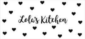 Sticker keukentje achterwand hartjes naam