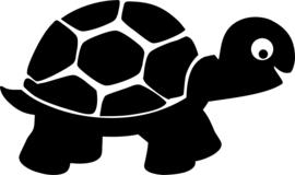 Strijkapplicatie schildpad