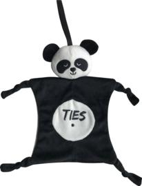 Knuffeldoekje pandabeer met naam