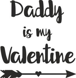 strijkapplicatie Daddy is my Valentine pijl