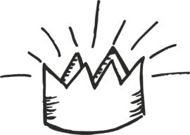 strijkapplicatie kroon getekend