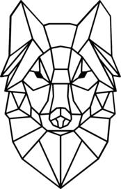 strijkapplicatie wolf geometrisch