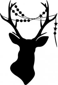 Strijkapplicatie Hert slinger ster