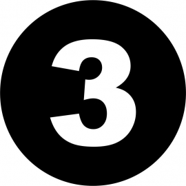 strijkapplicatie cirkel met cijfer