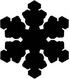 strijkapplicatie sneeuwvlok 8
