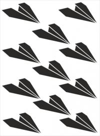 Muursticker Papieren vliegtuigjes