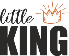 strijkapplicatie little king met kroontje