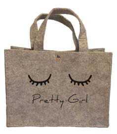 vilten tasje Pretty girl