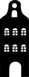 herbruikbare raamsticker huisje C