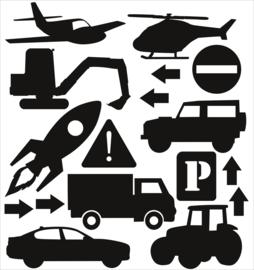 Statische raamsticker voertuigen (herbruikbaar)