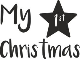 strijkapplicatie my 1st christmas ster