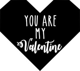 strijkapplicatie you are my valentine