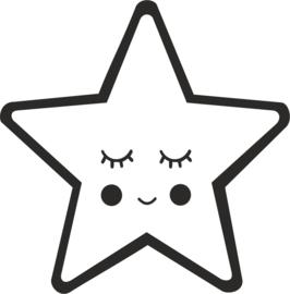 strijkapplicatie ster gezichtje
