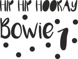sticker verjaardag Hip Hip naam cijfer