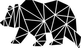 Strijkapplicatie geometrisch beer vlakken
