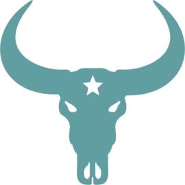 Muursticker Buffel schedel ster