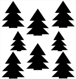 Strijkapplicatie strooi kerstbomen