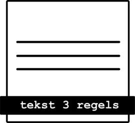tekst 3 regels
