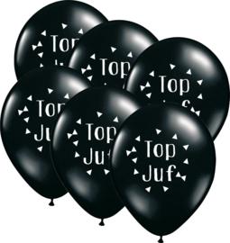 6 ballonen 'Top Juf'