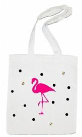 linnen tas - flamingo confetti