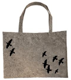 Vilten shopper vliegende vogels