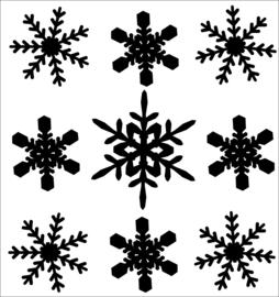 herbruikbare raamsticker sneeuwvlokken