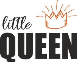 strijkapplicatie little queen met kroontje