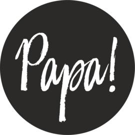 strijkapplicatie papa! cirkel