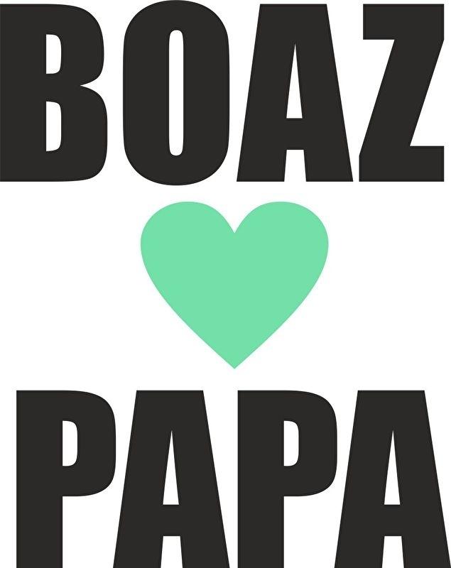 strijkapplicatie naam loves papa strak