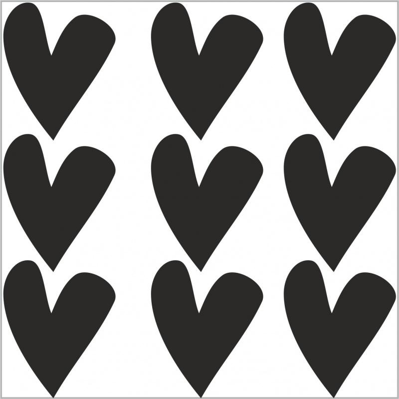 Strijkapplicatie strooi hartjes