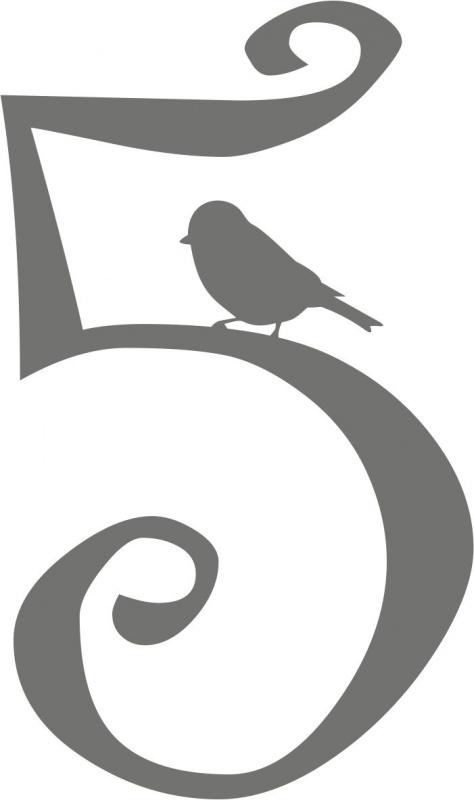 strijkapplicatie cijfer Birdy - kies uit 0 t/m 9