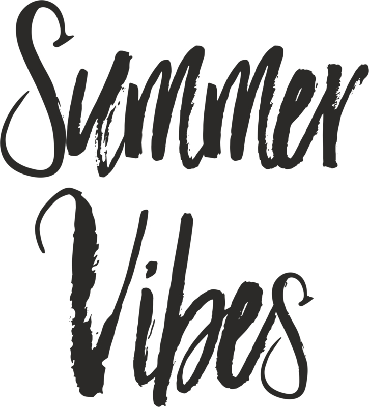 strijkapplicatie Summer Vibes tekst
